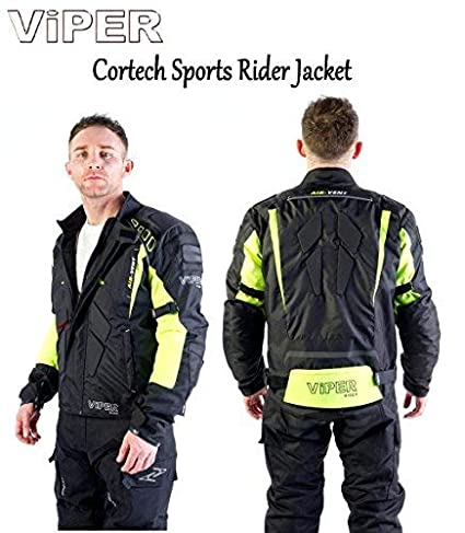 Viper MOTORBIKE CORETECH TEXTILE RIDER JACKET Motorcycle Waterproof CE Armour Sports Touring Jacket & Grid Balaclava MOTOHART