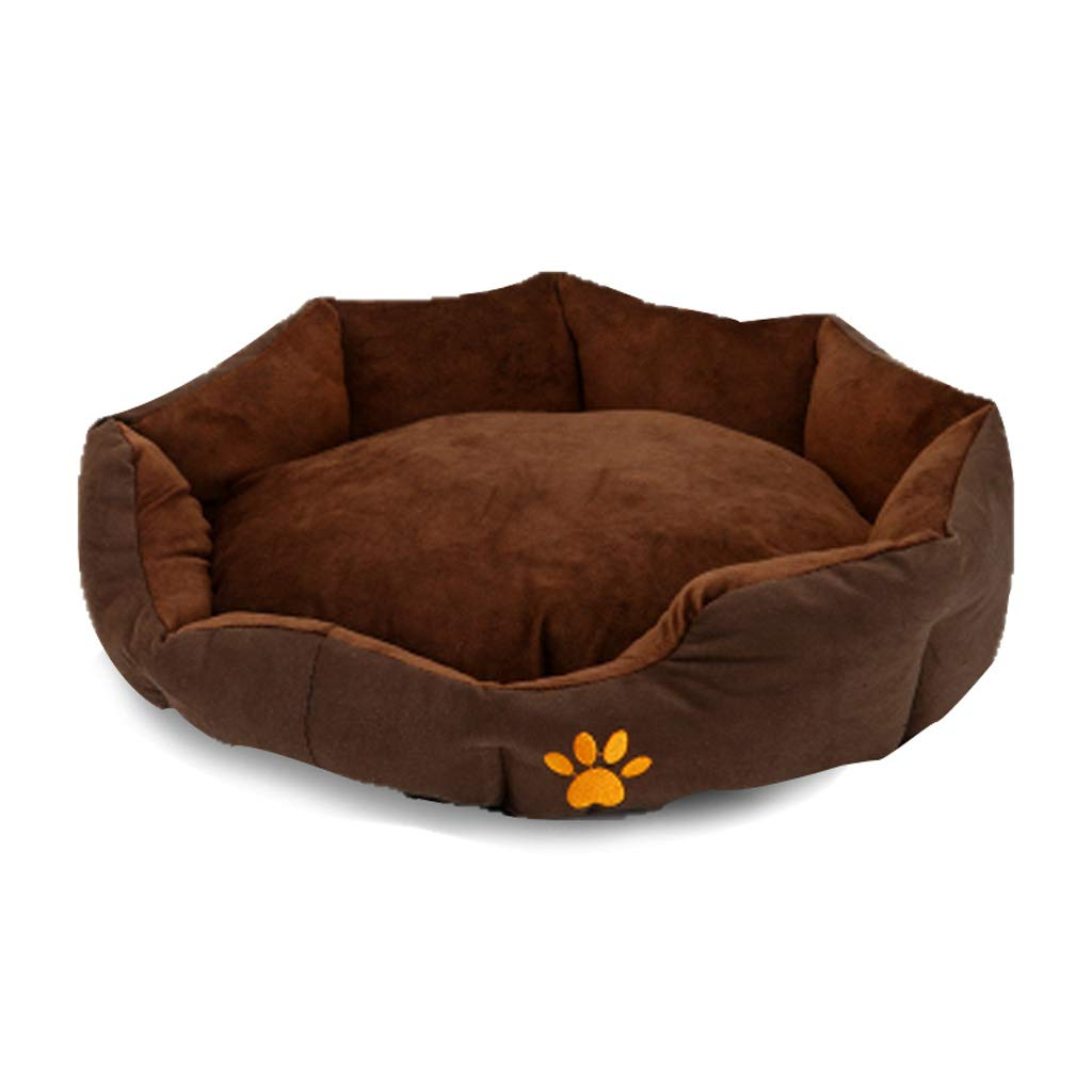 A XlHQSB Pet Bed Round or Oval Shape Dimple Flannel Nesting Dog Cave Bed Cat Bed for Cats and Small Dogs (color   G, Size   L)