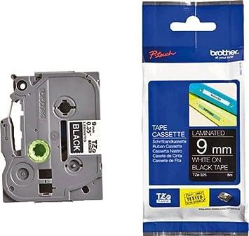 Beschriftungsbänder Schriftbandkassette Thermo Brother 9 mm MK223 blau weiß mtap