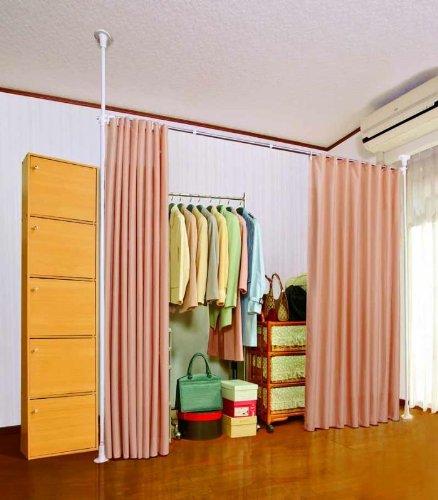 目隠しカーテン /(ベージュ/) 間仕切り お部屋の間仕切り、目隠しに! パーテーション つっぱり式