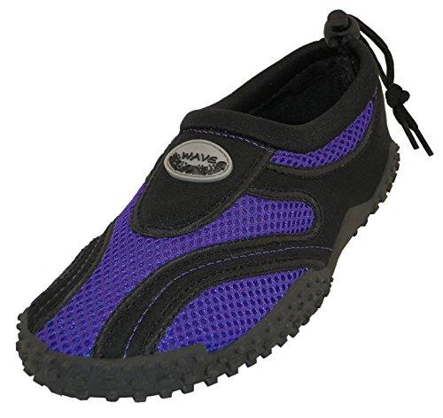 Cambridge Select Donna Scarpe Chiuse Antiscivolo Quick Dry Slip-on Water Shoe Nero / Viola