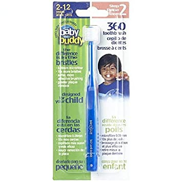 Baby Buddy 360 Toothbrush Step 2 Stage 6 for Ages 2-12 Years, Kids