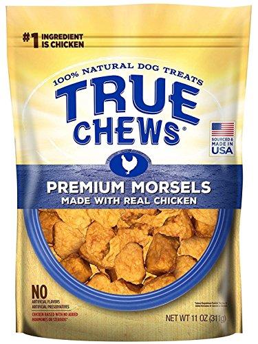 True Chews Dog Treats Premium Chicken Jerky Morsels 10 oz Made in USA (1 Pack)