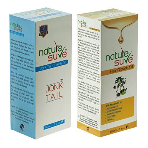 Nature Sure Combo - Jonk Tail (Leech Oil) 110ml and Hair Growth Oil 110ml