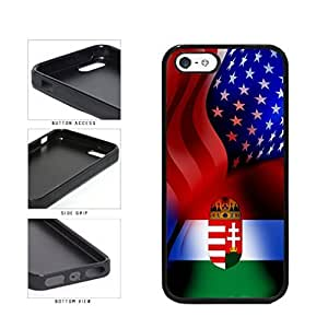 Hungary and USA Mixed Flag TPU RUBBER SILICONE Phone Case Back Cover Apple iPhone 5 5s