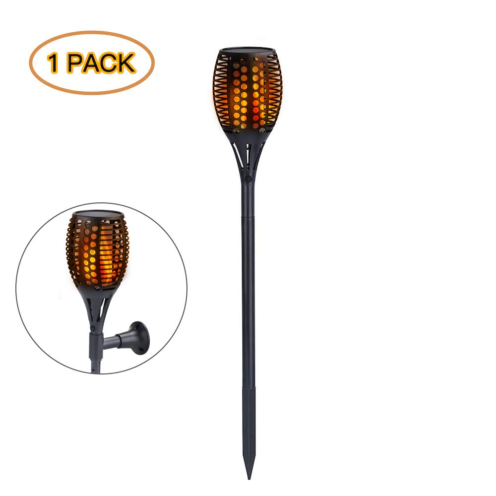 TuffGear Solar Powered Torch Light Outdoor Landscape Decoration Path Lighting Outdoor Lamp (1 pack)