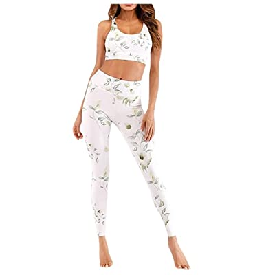 Akabsh Print High Waist Hip Bottom Pants Running Fitness Yoga Blouse Pant Suit Top and Leggings Fitness Sports Pants Yoga Suit Running Fitness Yoga Blouse Pant Suit: Home & Kitchen