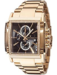 Yves Camani Escaut Mens Quartz Watch Stainless Steel Gold Chronograph YC1060-F Gold Plated Strap