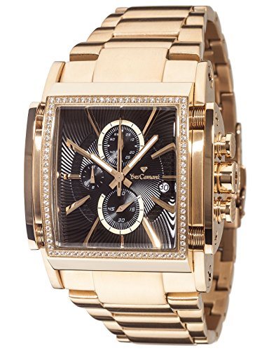 Yves Camani YC1060-F Escaut Men's Quartz Watch Stainless Steel Gold Chronograph Gold Plated Strap