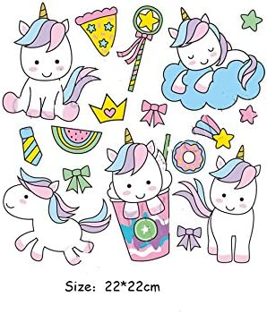 Pegatinas transfer parches termoadhesivo dulces unicornios novedad ...