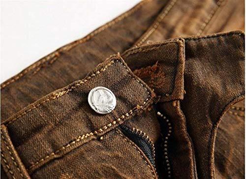 I Da Classici Dritto Bronze Uomo Vecchi Jeans Denim coltivazione Giovane Originali Ssig Alla Self Ne Moda Hanno In Cotone Cowboy MzVqpSU