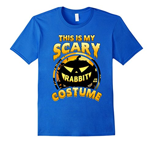 Mens This Is My Scary Rabbit Costume Halloween Gift T-shirt Medium Royal (Scary Rabbit Costume)