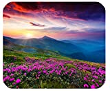 1 X Nature Purple Flowers Meadow Mountain Scenic Large Mousepad Mouse Pad Great Gift Idea