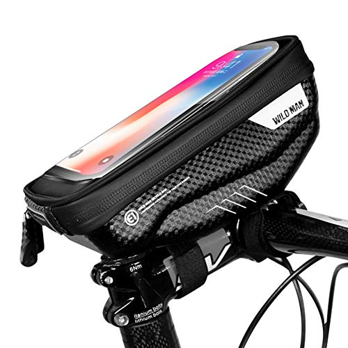Wild Man Bike Front Frame Bag Phone Mount Bag Waterproof Handlebar Top Tube Storage Cycling Bicycle Package Touch Screen Phone Case - Mens Handlebar