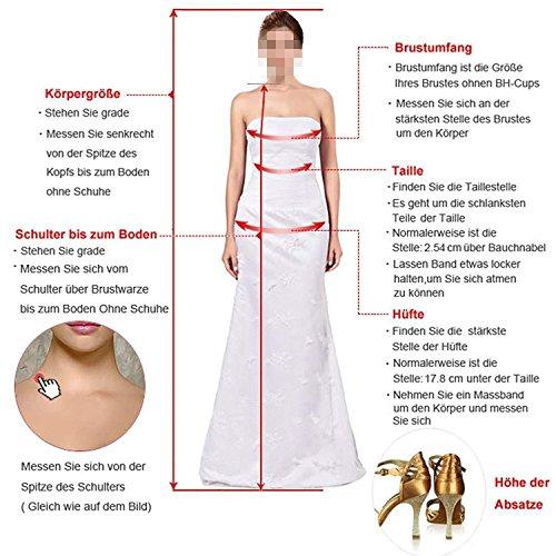 Braut Kurzarm Wadenlang Marie Traube Glamour La Partykleider Spitze Pink Abendkleider Brautmutterkleider OqHwxnP5C