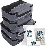 bago Packing Cubes For Travel Bags - Luggage Organizer 10pcs Set (Gray)