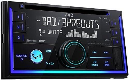 JVC KWDB93BT 2 DIN DAB inkl Antenne CD Bluetooth Spotify mit Einbauset f/ür VW Passat B5//3B B5//3BG 1996-2005