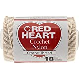 Coats Crochet & Floss Nylon Crochet, Thread Size 18, 150-Yard, Natural