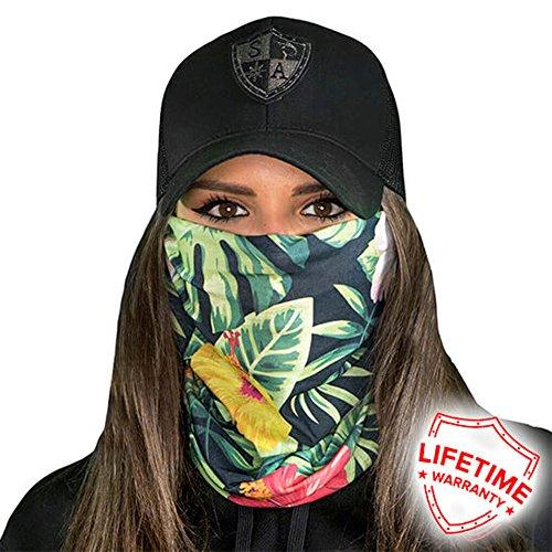 Salt Armour Face Mask Shield Protective Balaclava Bandana MicroFiber Tube Neck Warmer - Hawaiian (Hawaiian Bandana)