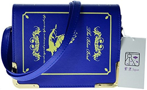 Shikyou  Classical Book Type Shoulderbag Bag  Blue