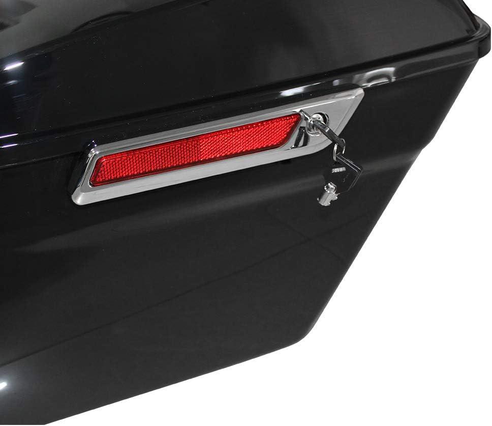 Road King Road Glide ZXMOTO Glossy Black Hard Saddlebags Saddle Bags W//Hardware Fit For 2014 15 16 17 18 19 2020 Harley Touring Models FLT FLHT FLHTCU FLHRC Street Glide