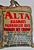 20 Lb. Basmati Rice Alta Parboiled, Sella, Good Length, Easy Cook, Suitable for Diabetics People