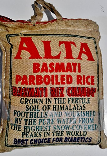 20 Lb. Basmati Rice Alta Parboiled, Sella, Good Length, Easy Cook, Suitable for Diabetics People by Amira