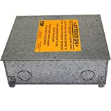 FSR Fl-500P Steel Floor Box For Carpet, Tile And Wood 4'' Cover Door Flips Back