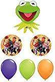 Muppets Balloon Bouquet - Kermit, Miss Piggy and Animal Balloons - 6 Count