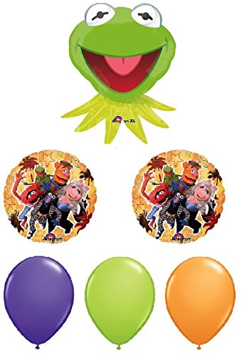 Muppets Balloon Bouquet - Kermit, Miss Piggy and Animal Balloons - 6 Count by American Balloon Company