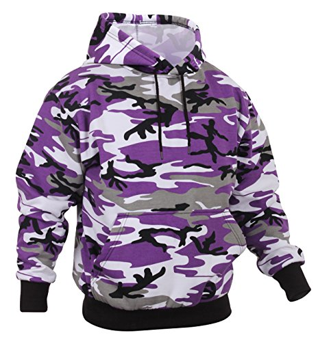 Rothco Camo Pullover Hooded Sweatshirt, Ultra Violet Camo, XL