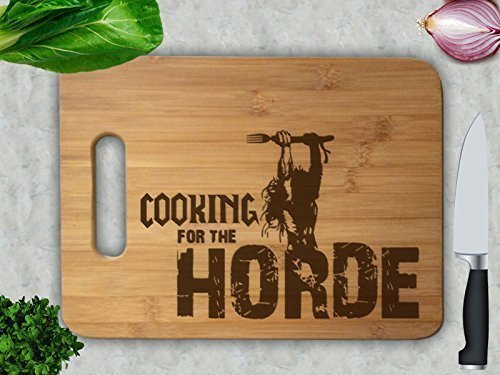 Cooking For the Horde Anniversary Wedding Gift Personalized Cutting Board Engagement Bamboo Cutting Board Chopping Block…