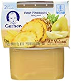 Gerber 2nd Foods Pear Pineapple, 4 oz Tubs, 2 Count (Pack of 8)