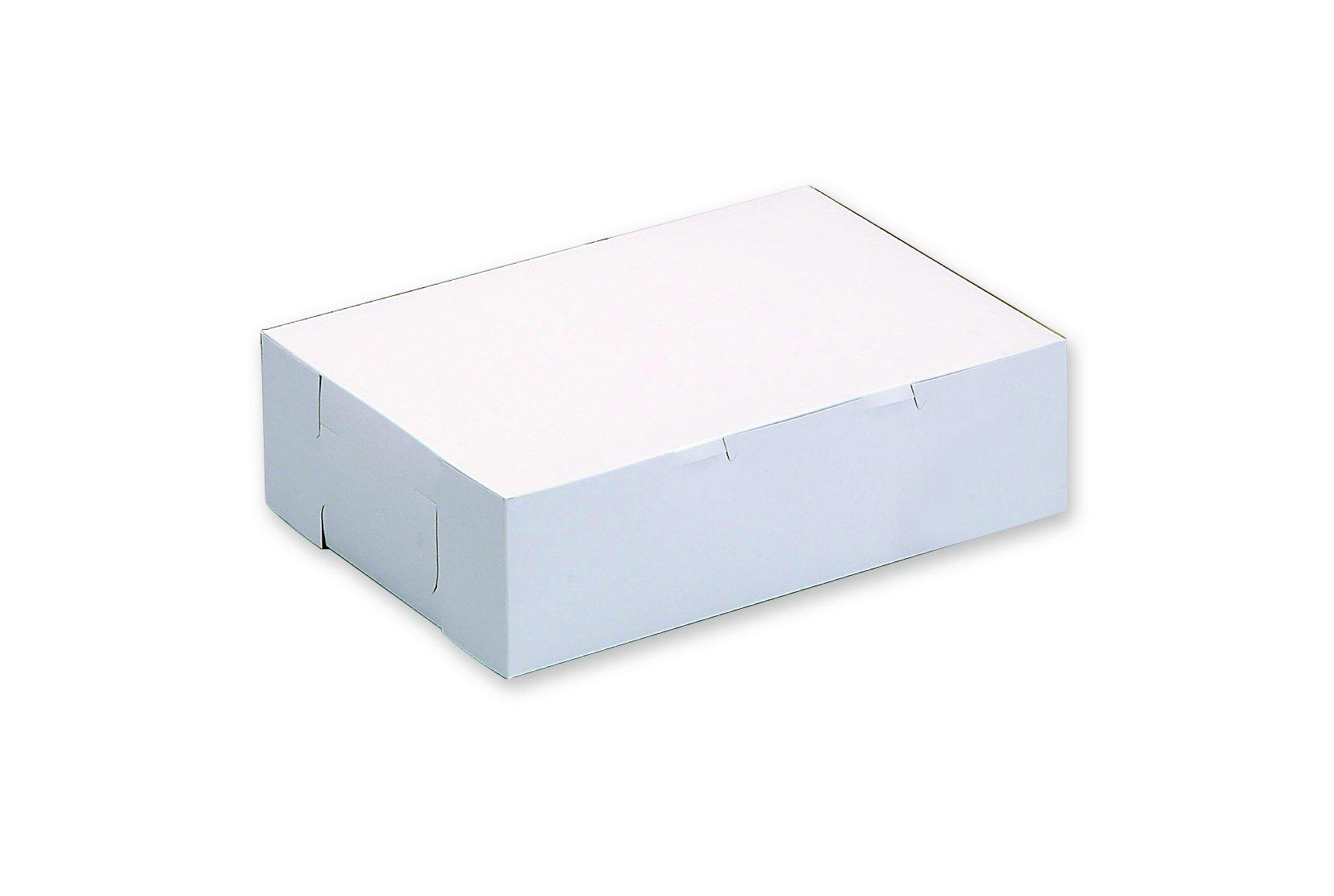 W PACKAGING WPLC12124WK 12x12x4 White//Kraft Plain Cake Box Pack of 100 No Window Lock Corner