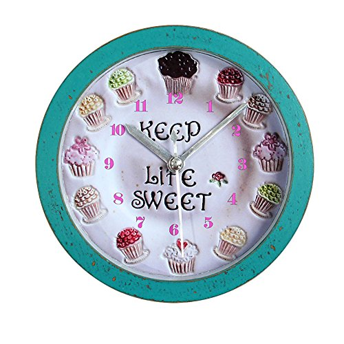 Creative Cupcake Alarm Clock for Home Decor Blue 5""