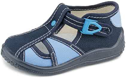 126b60275f1 Zetpol kaja 576 Navy Blue Metal Cam Lock Buckle Closure Toddler Boys   Canvas Fisherman Sandal