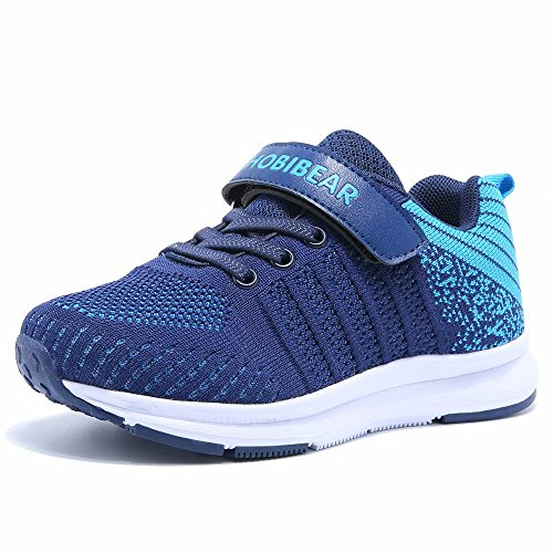 Price comparison product image GUBARUN Kids Lightweight Sneakers Boys and Girls Casual Running Shoes(2,Blue)