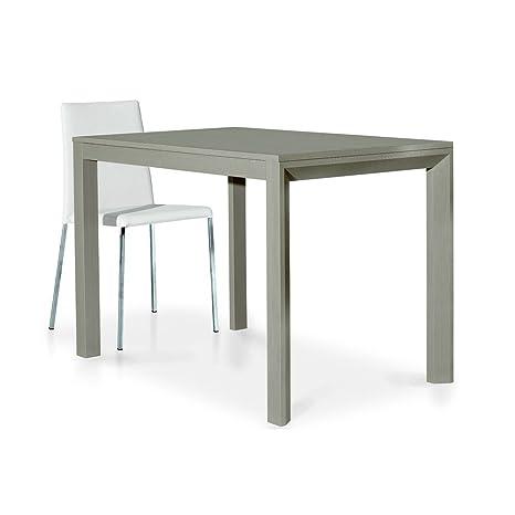 Tavolo 70 X 110 Allungabile.Milanihome Tavolo Da Pranzo Moderno Di Design Allungabile Tortora 70