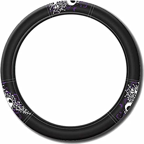 nbc nightmare before christmas jack black steering wheel cover color vinyl decal bones - Nightmare Before Christmas Steering Wheel Cover