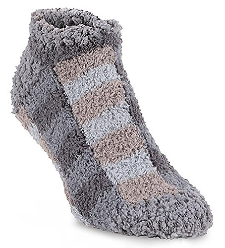 Fuzzy Ankle Socks - World's Softest Women's Ultra-Soft Knit Low Ankle Socks One Size Fits Most (Shady Plaid)