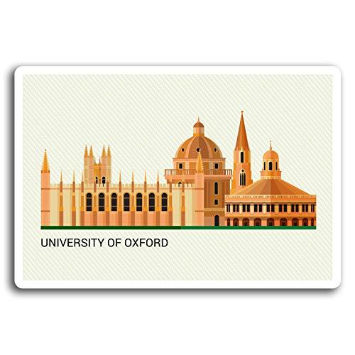 (2 x 10cm University of Oxford Travel Vinyl Stickers - Sticker Laptop Gift #19588 (10cm Wide))