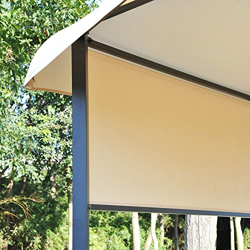 Outsunny 12' x 12' Steel Hexagonal Gazebo Canopy with Removable Side Panels by Outsunny (Image #4)