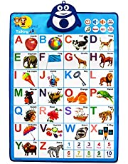 Wise Designs Musical Toys for Toddlers 1-3 – Educational Toddler Tablet – Interactive Learning Chart for Kids – Alphabet and Numbers Learning – 8 Popular Kids Tunes – Ideal for Home, Classroom
