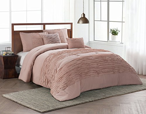 Avondale Manor Spain 5 Piece Comforter Set, Queen, Blush by Avondale Manor