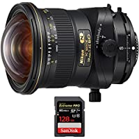 Nikon PC NIKKOR 19mm f/4E ED Ultra-Wide-Angle Tilt Shift Lens (20065) with Sandisk Extreme PRO SDXC 128GB UHS-1 Memory Card