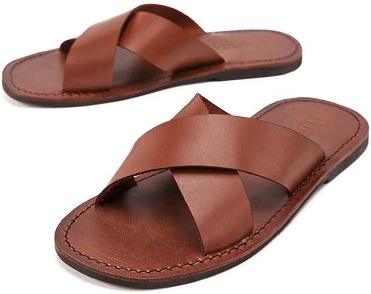 Bixialan Men's Walking Sandals Casual Men's Beach Exposed Toe Sandals Flip Flops Summer Cozy Convenient Sandals Flip Flops Slippers Suitable For Indoor And Outdoor Coffee