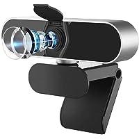 Salandens Cámara web HD 1080P, Webcam PC con Microfono de vídeo digital en vivo con micrófono dual integrado, cámara de…