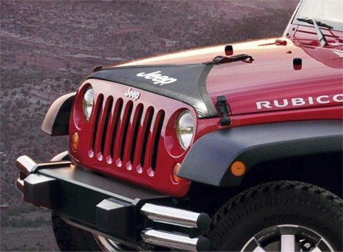 Mopar 82210316 OEM Jeep Wrangler T-Style Hood Cover – JK – In Black