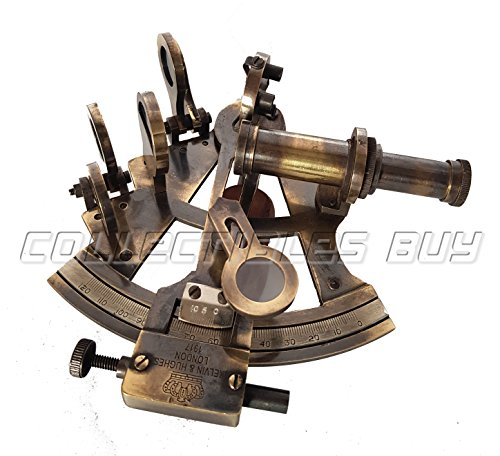 Vintage Functional Marine Table Decorative Brass Sextant Nautical Handmade Gift Article - Retro Handicraft Antique Collection by Collectibles Buy