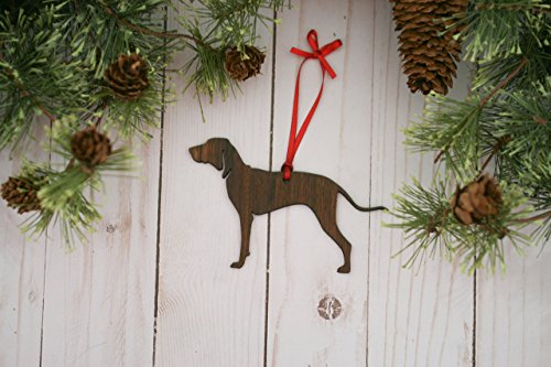 Customizable Coonhound Christmas Tree Ornament (Coonhound Ornament)